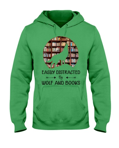 Easily Distracted By Wolf And Books
