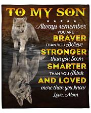 "You Are Braver Stronger Smarter Loved Mom To Son Fleece Blanket - 50"" x 60"" front"