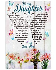 Daughter Butterfly I Love You To The Moon And Back 11x17 Poster front