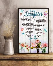 Daughter Butterfly I Love You To The Moon And Back 11x17 Poster lifestyle-poster-3