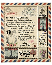 """I Love You To The Moon And Back - Dad-To-Daughter Fleece Blanket - 50"""" x 60"""" front"""