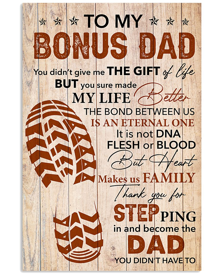 Bonus Dad -Thank you Steping in and become the Dad 11x17 Poster