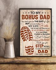 Bonus Dad -Thank you Steping in and become the Dad 11x17 Poster lifestyle-poster-3