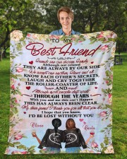 """Personalized Friends Are Chosen Family To Bestie Fleece Blanket - 50"""" x 60"""" aos-coral-fleece-blanket-50x60-lifestyle-front-01a"""