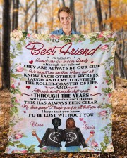 """Personalized Friends Are Chosen Family To Bestie Fleece Blanket - 50"""" x 60"""" aos-coral-fleece-blanket-50x60-lifestyle-front-01b"""