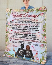"""Personalized Friends Are Chosen Family To Bestie Fleece Blanket - 50"""" x 60"""" aos-coral-fleece-blanket-50x60-lifestyle-front-02"""