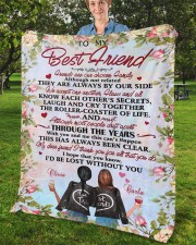 """Personalized Friends Are Chosen Family To Bestie Fleece Blanket - 50"""" x 60"""" aos-coral-fleece-blanket-50x60-lifestyle-front-02b"""