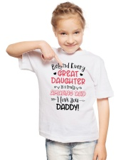 Behind Every Great Daughter Is A Truly Amazing Dad Youth T-Shirt lifestyle-youth-tshirt-front-2