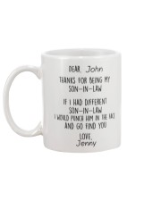 Personalized NameThanks For Being My Son-In-Law  Mug back