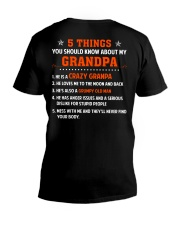 5 Things You Should Know About My Grandpa V-Neck T-Shirt thumbnail