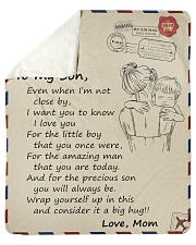 """Even when Im not close by Mom-To-Son Sherpa Fleece Blanket - 50"""" x 60"""" thumbnail"""