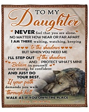 """Never Feel That U Are Alone Wolf Mom To Daughter Fleece Blanket - 50"""" x 60"""" front"""