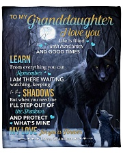 """Life Is Filled With Hardtimes-Wolf 2 Granddaughter Fleece Blanket - 50"""" x 60"""" front"""