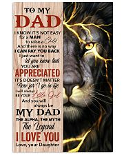 Lion You'll Always Be My Dad The Legend - For Dad 11x17 Poster front