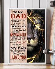 Lion You'll Always Be My Dad The Legend - For Dad 11x17 Poster lifestyle-poster-4