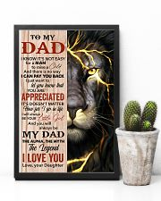 Lion You'll Always Be My Dad The Legend - For Dad 11x17 Poster lifestyle-poster-8