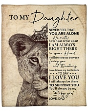 """Lion-Never Feel That U Are Alone - Dad-To-Daughter Fleece Blanket - 50"""" x 60"""" front"""