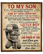 """My Little Boy Yesterday Dad To Son Fleece Blanket - 50"""" x 60"""" front"""