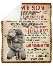 "My Little Boy Yesterday Dad To Son Sherpa Fleece Blanket - 50"" x 60"" thumbnail"