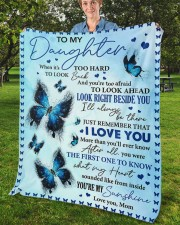 """When It's Too Hard To Look Back Mom To Daughter Fleece Blanket - 50"""" x 60"""" aos-coral-fleece-blanket-50x60-lifestyle-front-02b"""