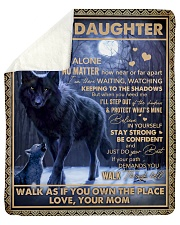 """Never Feel That U Are Alone Wolf Mom To Daughter Sherpa Fleece Blanket - 50"""" x 60"""" thumbnail"""