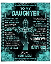 """I Am So Proud Of You The Cross Mom To Daughter Fleece Blanket - 50"""" x 60"""" front"""
