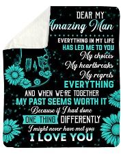 "Husband My Man Everything In My Life Has Led Me 2U Sherpa Fleece Blanket - 50"" x 60"" thumbnail"
