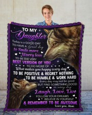 """Today Is A Good Day Have Great Day Mom To Daughter Fleece Blanket - 50"""" x 60"""" aos-coral-fleece-blanket-50x60-lifestyle-front-01"""
