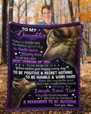 """Today Is A Good Day Have Great Day Mom To Daughter Fleece Blanket - 50"""" x 60"""" aos-coral-fleece-blanket-50x60-lifestyle-front-01b"""