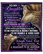 """Today Is A Good Day Have Great Day Mom To Daughter Fleece Blanket - 50"""" x 60"""" front"""