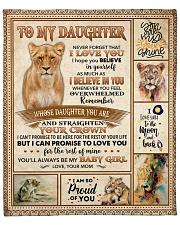 """Lion - Im So Proud Of U - Mom-To-Daughter Fleece Blanket - 50"""" x 60"""" front"""