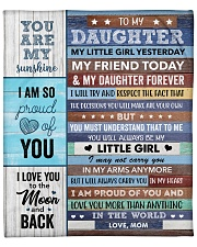 "I Love U More Than Anything Mom To Daughter Fleece Blanket - 50"" x 60"" front"
