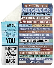 "I Love U More Than Anything Mom To Daughter Sherpa Fleece Blanket - 50"" x 60"" thumbnail"