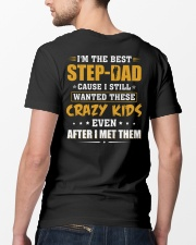 I'm The Best Step-dad Classic T-Shirt lifestyle-mens-crewneck-back-5