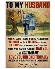Husband I Love You Unconditionally 11x17 Poster front