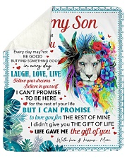 """Never Forget That I Love U Mom To Son Sherpa Fleece Blanket - 50"""" x 60"""" thumbnail"""