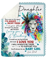 "Never Feel That U Are Alone Dad To Daughter Sherpa Fleece Blanket - 50"" x 60"" thumbnail"