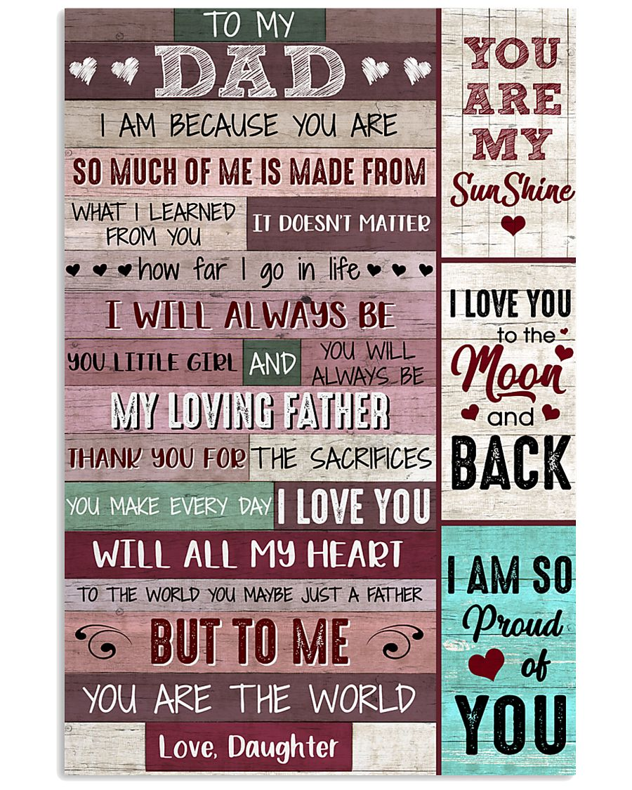 Dad Thanks 4The Sacrifices U Make Every Day ILoveU 11x17 Poster