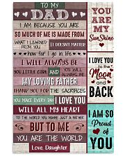 Dad Thanks 4The Sacrifices U Make Every Day ILoveU 11x17 Poster front