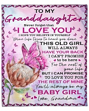 "Never Forget That I Love U GM To Granddaughter Fleece Blanket - 50"" x 60"" front"