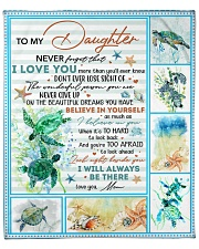 """Never Forget That I Love U-Turtle Mom-To-Daughter Fleece Blanket - 50"""" x 60"""" front"""