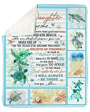 """Never Forget That I Love U-Turtle Mom-To-Daughter Sherpa Fleece Blanket - 50"""" x 60"""" thumbnail"""