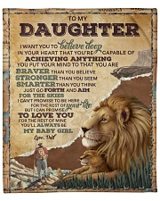 """Want U To Believe Deep In Your Heart To Daughter Fleece Blanket - 50"""" x 60"""" front"""