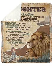 "Want U To Believe Deep In Your Heart To Daughter Sherpa Fleece Blanket - 50"" x 60"" thumbnail"
