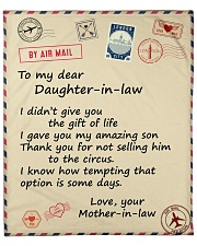 """Didn't Give U The Gift-Mother-InLaw Daughter-InLaw Fleece Blanket - 50"""" x 60"""" front"""