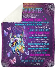 "Never Forget That I Love U Mom To Daughter Sherpa Fleece Blanket - 50"" x 60"" thumbnail"
