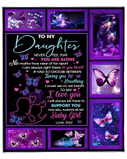 """Daughter My Love ForU Is Forever And Will Follow U Fleece Blanket - 50"""" x 60"""" front"""