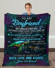 """I Wish I Could Turn Back The Clock To Boyfriend Fleece Blanket - 50"""" x 60"""" aos-coral-fleece-blanket-50x60-lifestyle-front-01c"""