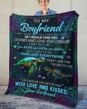 """I Wish I Could Turn Back The Clock To Boyfriend Fleece Blanket - 50"""" x 60"""" aos-coral-fleece-blanket-50x60-lifestyle-front-02"""