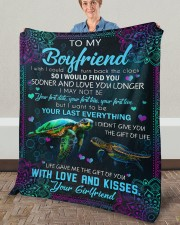 """I Wish I Could Turn Back The Clock To Boyfriend Fleece Blanket - 50"""" x 60"""" aos-coral-fleece-blanket-50x60-lifestyle-front-02a"""